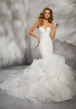 mori lee 8282 leona trumpet style wedding dress 01 417