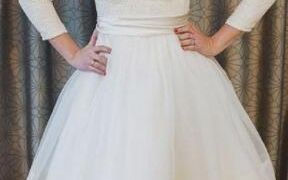 23 Beautiful Simple Short Wedding Dresses with Sleeves