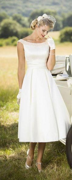 649e bb76f0b115a450ffbfc96a tea length wedding dress satin wedding dresses