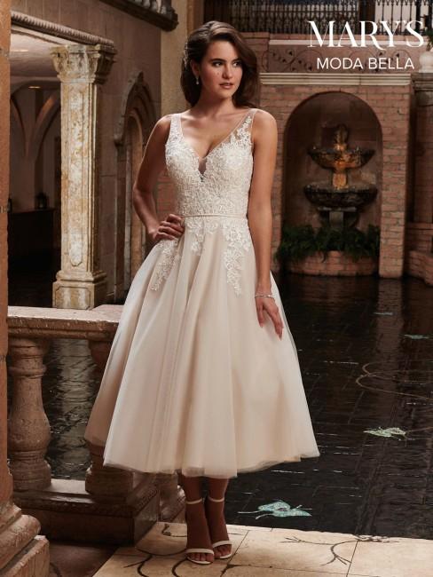marys bridal mb2023 tea length wedding gown 01 480