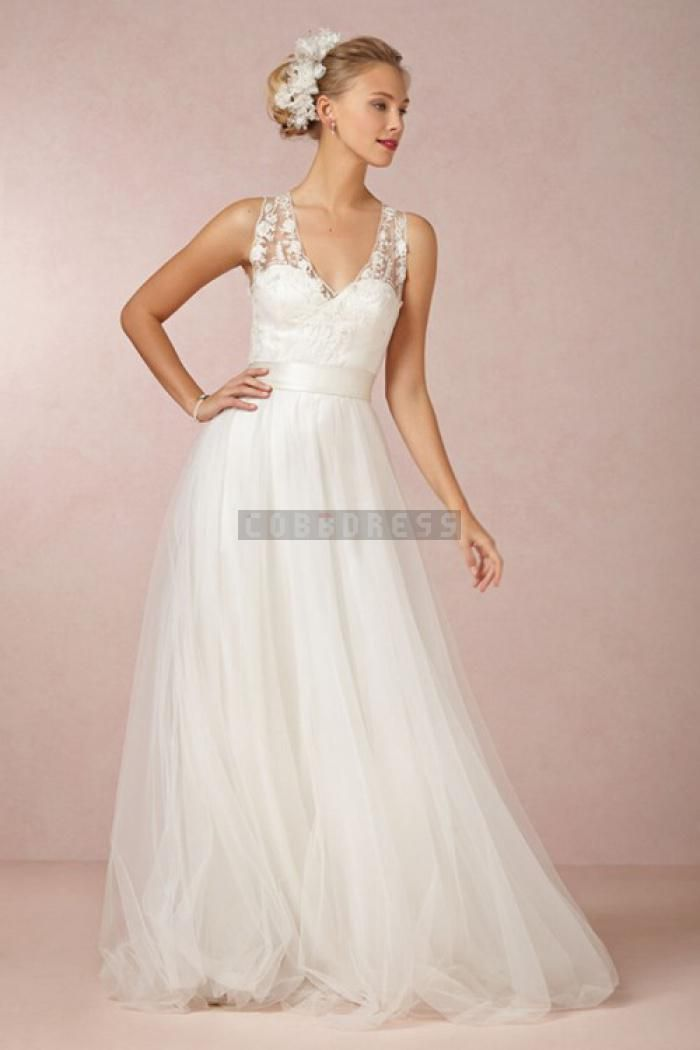 wedding gowns for beach weddings inspirational simple lace v neck sash tulle beach wedding dress