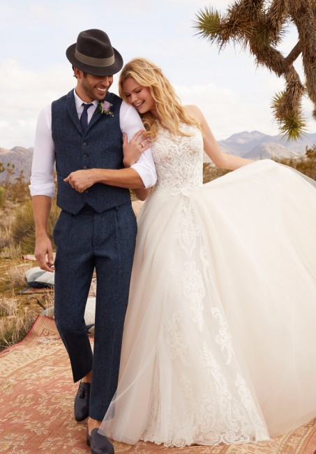 mori lee 2071 rebecca strappy back with overskirt wedding dress 01 646
