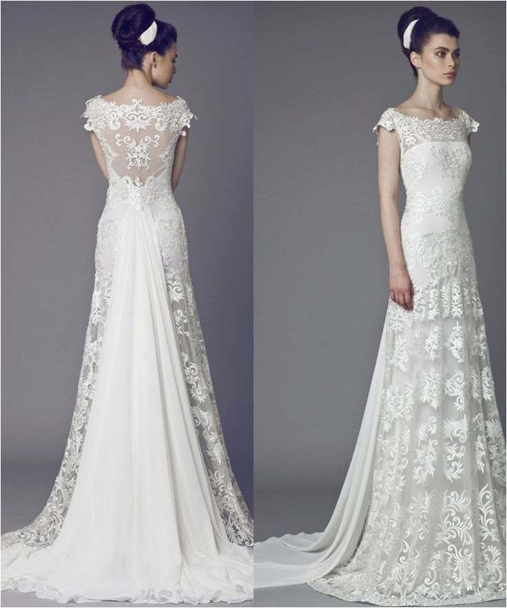 Simple White Wedding Dresses Lovely White Lace Wedding Gown New Media Cache Ak0 Pinimg originals
