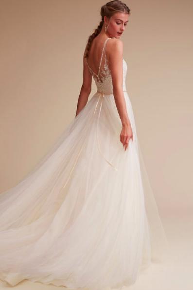 Size 6 Wedding Dress Beautiful Bhldn Cassia $900 Size 6