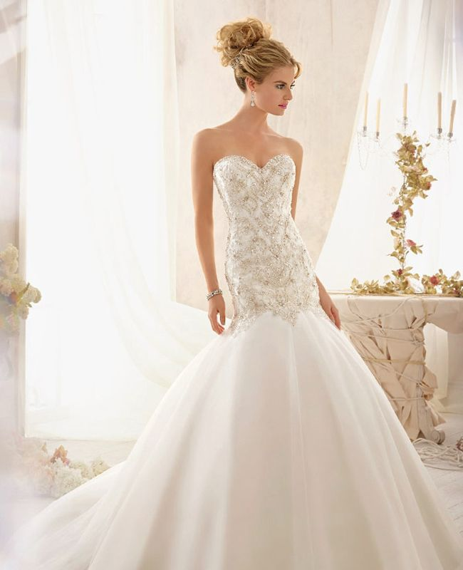 Sleeveless Wedding Dress Luxury Drop Waist Wedding Dress Wedding Dresses In 2019