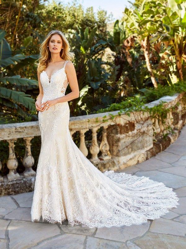 Slimming Wedding Dresses Elegant Open Back Mermaid Wedding Dress Moonlight Couture H1351
