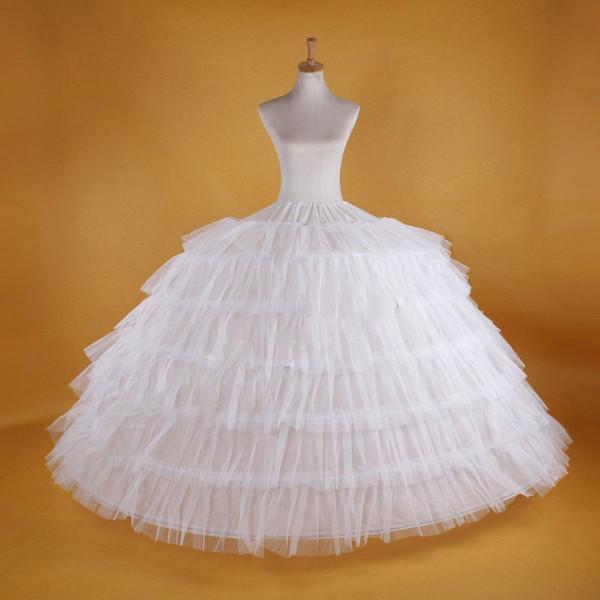 Slips for Wedding Dresses Lovely New Big White Petticoats Super Puffy Ball Gown Slip Underskirt 6 Hoops Long Crinoline for Adult Wedding formal Dress Square Dancing Petticoats
