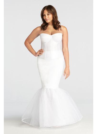Slips for Wedding Dresses Lovely Plus Size Trumpet Silhouette Slip Style 9trumpetslip White
