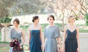 27 Best Of Steel Blue Bridesmaid Dresses