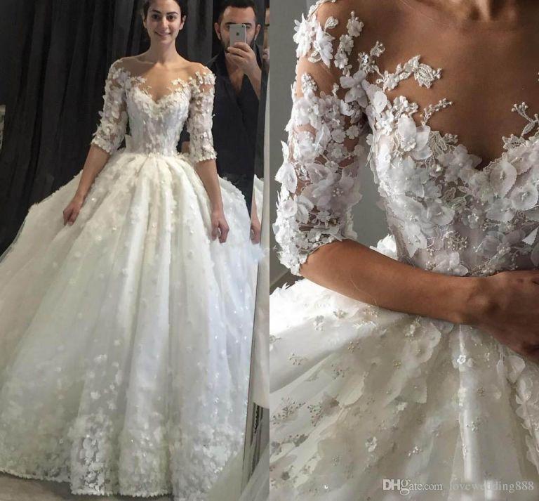 dream wedding dress lace beautiful lovely 2018 steven khalil ball gown wedding dresses 3d floral appliques of dream wedding dress lace beautiful 768x713