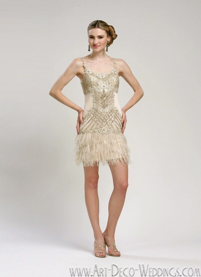 beaded flapper dress sue wong