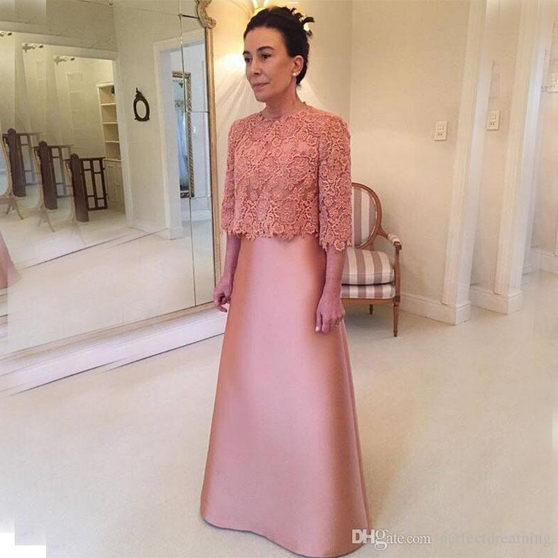elegant pink a line mother of the bride dresses