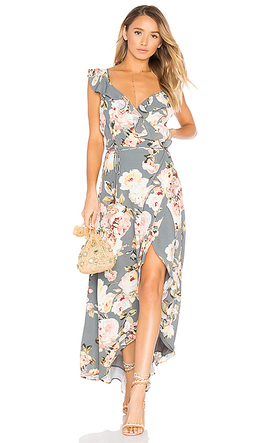 PRIVACY PLEASE Fillmore Floral Print Dress Asphalt