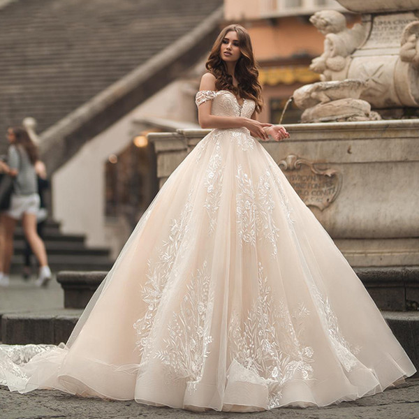 Super Cheap Wedding Dresses Beautiful Discount ashley Carol Vintage Ball Gown Wedding Dress 2019 Y Sweetheart Cap Sleeve Chapel Train Princess Wedding Gowns Customized Cheap Wedding