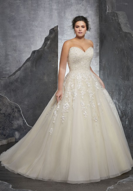 mori lee 3238 kasmira strapless sweetheart plus size bridal dress 01 288