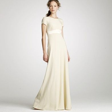 T Shirt Wedding Dress Luxury Modest Gown From J Crew $595 00