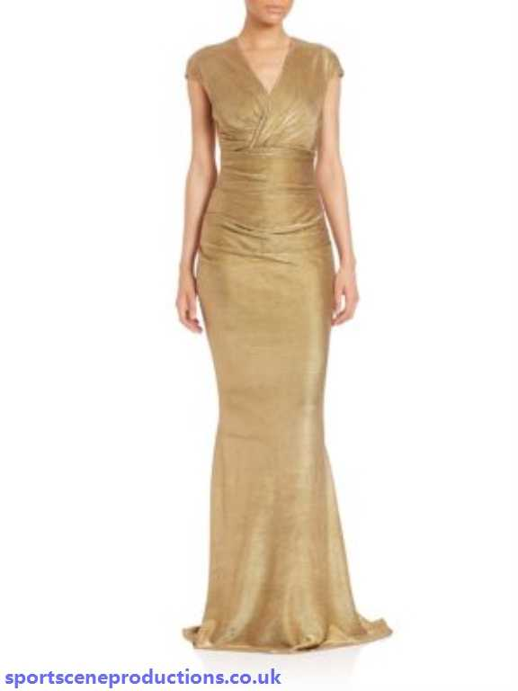 jersey ruched metallic gown gold talbot runhof mother of the bride 0D