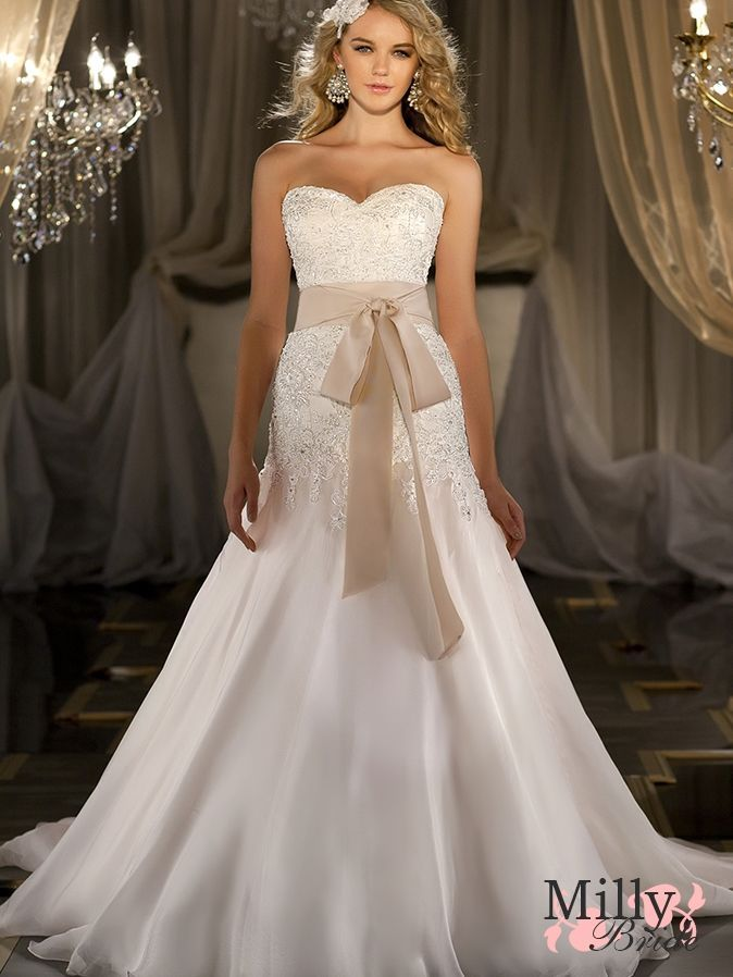 Tan Dresses for Wedding Unique Wedding Dresses 2013 Cute Cept I Don T Like the Tan Bow