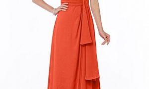 28 Elegant Tangerine Dresses for Wedding