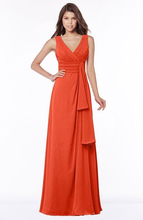 Tangerine Dresses for Wedding Lovely Colsbm Giselle Tangerine Tango Bridesmaid Dresses