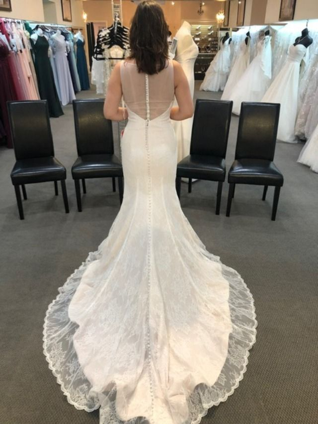 Tank top Wedding Dress Awesome This Gown Features A Tank Style top and An Allover Sheet