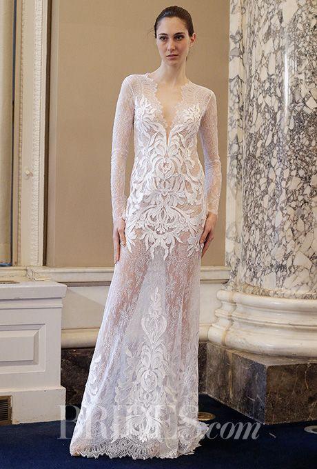 beautiful wedding dresses inspiration a daring sheer lace christos costarellos wedding dress brides