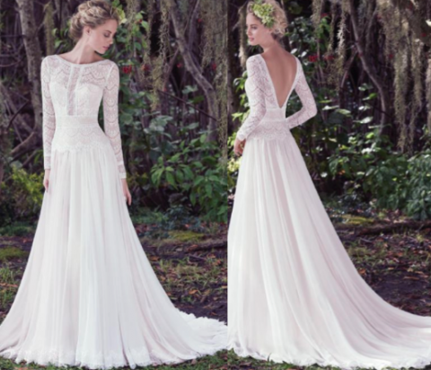 Modern Grace Kelly inspired wedding dress