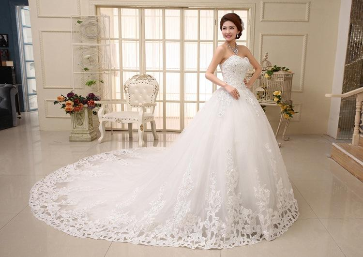 diamond wedding gown awesome long tail wedding dress sweet princess diamond royal train bride
