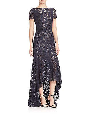 Theia evening Gown Inspirational theia Sleeveless High Low Lace Gown