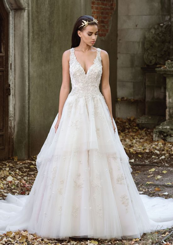 Tiered Lace Wedding Dresses Inspirational Style 9884 Lavish Tiered Tulle Ball Gown with Illusion Back