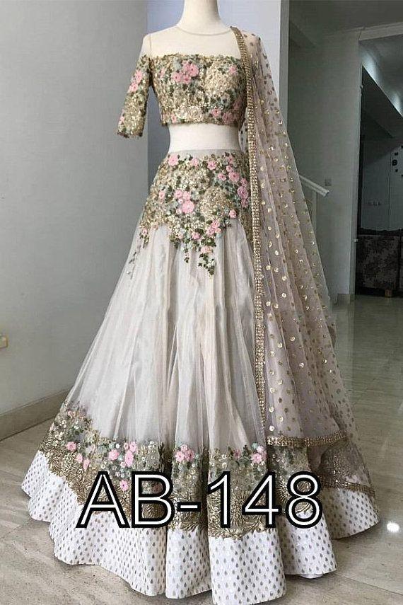 Top Dresses Designers Beautiful Indian Designer Heavy Crop top Skirt Lehenga Blouse with