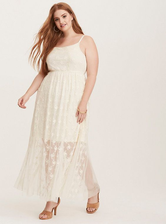 Torrid Wedding Dresses Awesome torrid Mixed Lace Maxi Dress Birch Plus Size Engagement