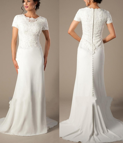 Traditional Wedding Gowns Awesome Ivory Chiffon Informal Beach Mermaid Modest Wedding Dresses