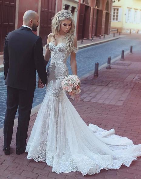 Traditional Wedding Gowns Beautiful Traditional African Casual Trumpet Patterns Lace Real Wedding Dress White Y Mermaid Transparent Corset Wedding Dress In Turkey Pretty