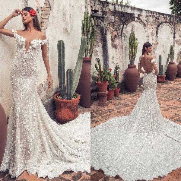 Traditional Wedding Gowns Inspirational 2019 Mermaid Wedding Dresses Sheer F Shoulder Lace Appliqued Bridal Gowns Court Train Plus Size Tulle Beach Wedding Dress Muslim Wedding Dresses Non