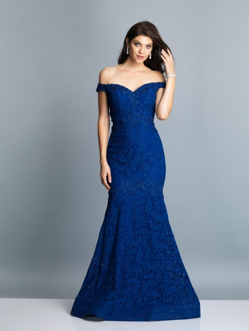 dave and johnny a7227 trumpet silhouette formal dress 01 599