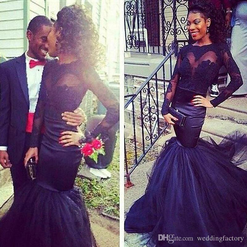 gorgeous navy african prom dresses mermaid