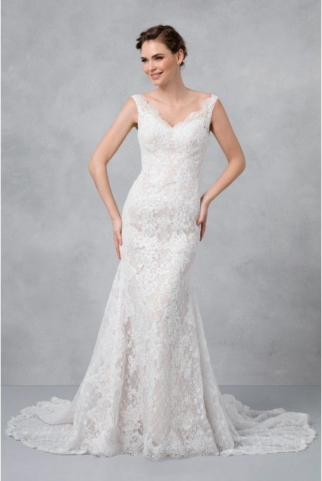Trumpet Style Dress Lovely Corded Lace Trumpet Wedding Dress Colour Ivory