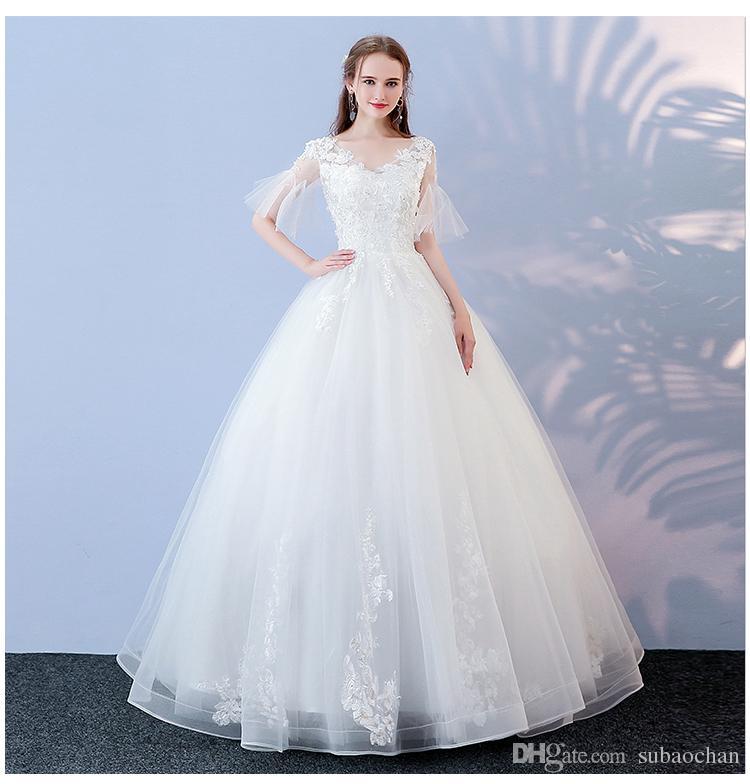 wedding dress 2018 new winter korean style