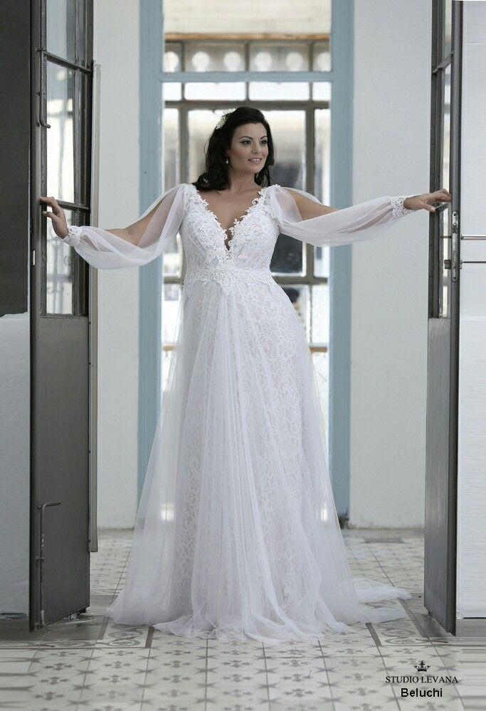 Unique Plus Size Wedding Dresses Luxury Full Lace and Tulle Plus Size Wedding Gown with Unique