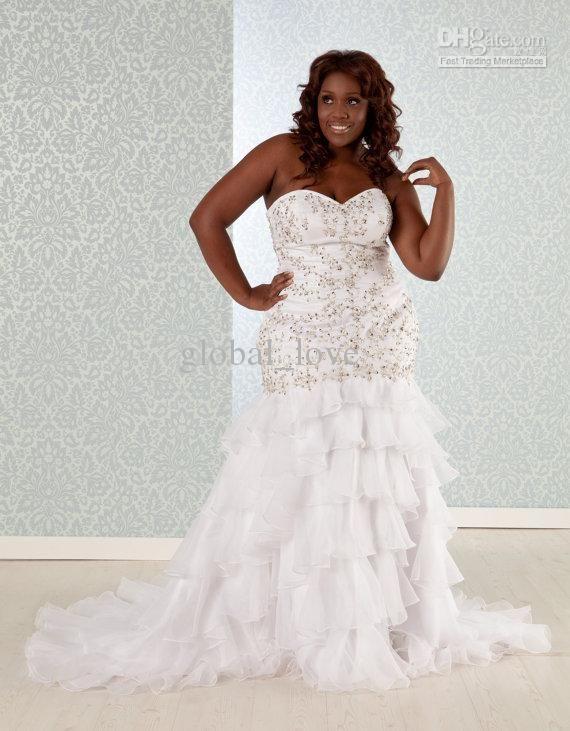 Used Plus Size Wedding Dresses Luxury wholesale Plus Size Wedding Dress 2013 Mermaid Trumpet
