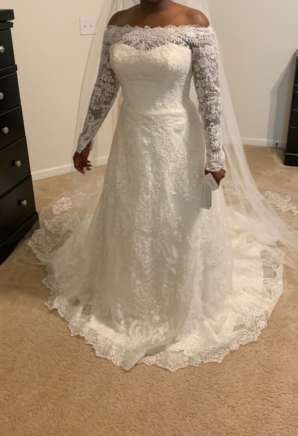 Used Wedding Dresses atlanta Unique Cathedral Lace Wedding Dress for Sale