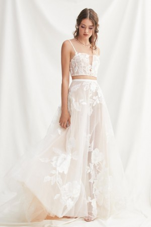 willowby rai floral wedding skirt 01 616
