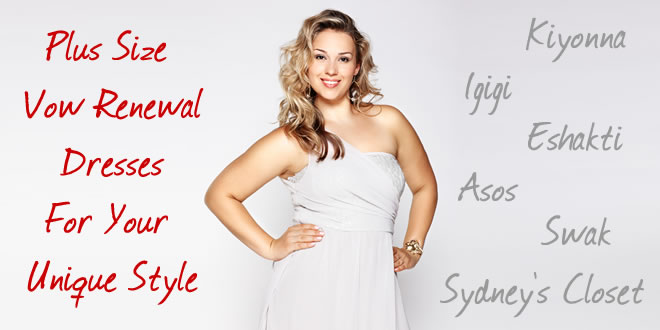 plus size vow renewal dresses