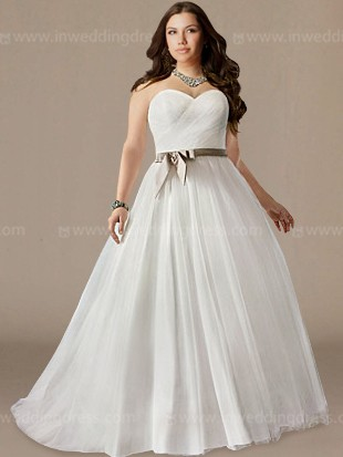 strapless plus size wedding dresses PS114A 1