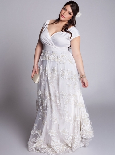 where to plus size vow renewal dresses