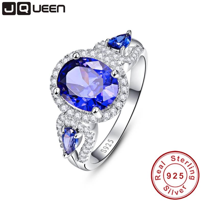 wedding brand tanzanite ring 925 solid sterling