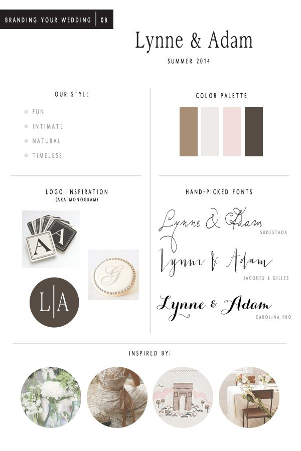 Wedding Brand New Wedding Branding Boards event Design & Styling