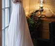 Wedding Dress 2 Pieces Unique 2 Pieces Long Sleeves Lace top Chiffon Long Wedding Dresses