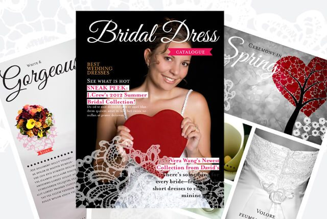 free wedding gown catalogs lovely free wedding dress catalogue template with 12 pages